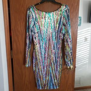 Dress the Population Sequin party dress